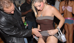 Club beauties dancing upskirts and some sex