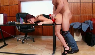Monique Alexander shows off her lewd bits as this babe gets pounded good and hard by Johnny Castle