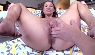 Lily Love has some dirty fantasies to geographically come to pass in cumshot action