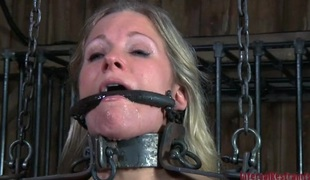 Poor sluttish woman is pledged and u have chance regarding see the close up