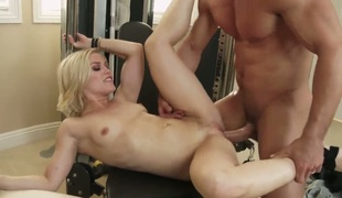 Exotic Ash Hollywood with firm ass and hard cocked dude Johnny Castle do dirty things