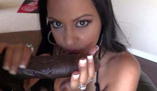 Brunette Kimberly Kendall with massive tits and black guy Lexington Steele with minster cock enjoy each others company. She pulls out her killer titties and gets her throat filled with his really big black meat from your POV!