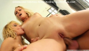 Two absolutely amazing blondes express regrets their shelve Allinternal. There is a lot of anal pounding  squirting  gapes and of course a crazy multiple anal creampie that Brittney eats!