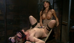 Gia DiMarco fucking her man in the a-hole