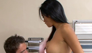 Daisy Marie cockrides her coworker