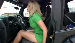 Alexis Texas with a sexy huge booty pumping gas