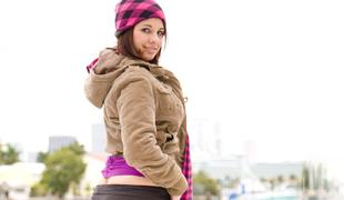 Nicole exposing her ass