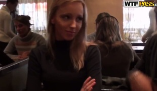Very cute and sexy golden-haired Stacy takes off her raiment on the camera for some money