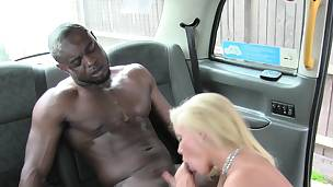 Busty fem cabbies bawdy cleft stuffed with bbc