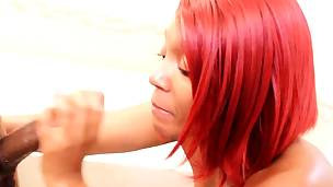 thick booty redboned thickred receives screwed by bbc stretch