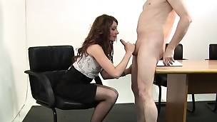 Cfnm babe acquires eaten out