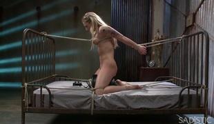 Dahlia Sky endures extraordinary bondage and brutal torture