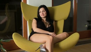 Aletta Ocean strips for you to have a fun in solo scene