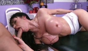 Hot mom Eva Karera with wet brawny tits get drilled