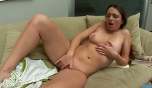 Horny newcomer Yudita fingers and undulates her pink flaps and clit moaning on the camera