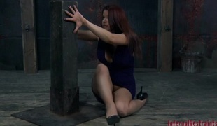 Bounded beauty is dripping sloppy stranger her sexy punishment