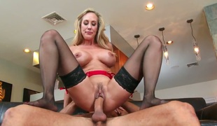 Asian Brandi Love with biggest titties and hairless cookie receives pumped good and hard by Danny Mountain