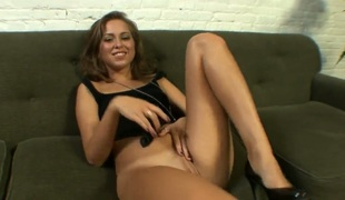 Small titty hotty Riley Reid spread her legs wide open and fingers her sexy wet crack right in front of the camera. See shameless hotty masturbate with wild passion. Pussy closeup will take your breath away.