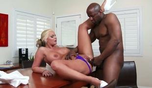 Big racked blonde mom Phoenix Marie enjoys ebony penis
