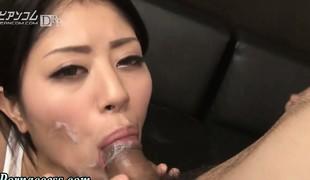 Facialized cock sucking oriental girl